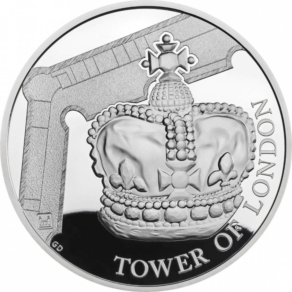 5 Pounds 2019, United Kingdom (Great Britain), Elizabeth II, Tower of London, Crown Jewels