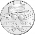 5 Pounds 2020, United Kingdom (Great Britain), Elizabeth II, Music Legends, Elton John