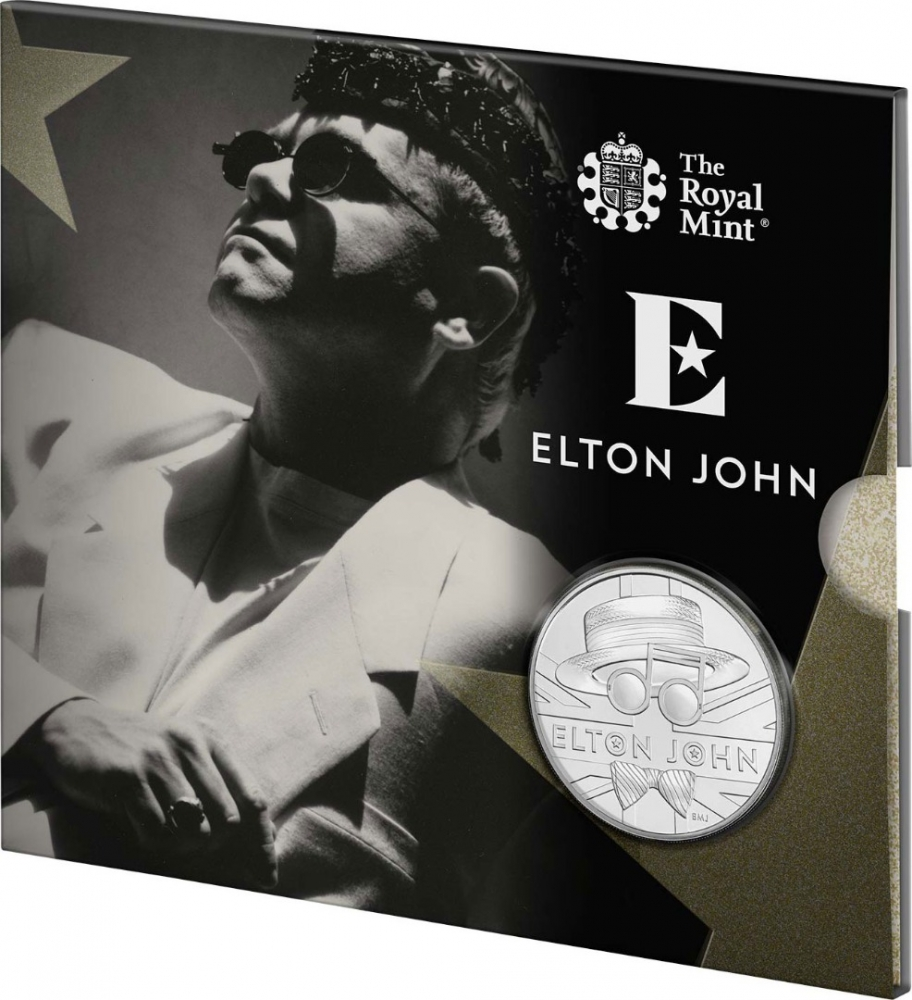 5 Pounds 2020, United Kingdom (Great Britain), Elizabeth II, Music Legends, Elton John, The Very Best Of, Limited Edition