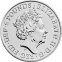 5 Pounds 2019, United Kingdom (Great Britain), Elizabeth II, Queen's Beasts, Falcon of the Plantagenets