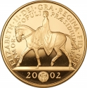 5 Pounds 2002, KM# 1024b, United Kingdom (Great Britain), Elizabeth II, 50th Anniversary of the Accession of Elizabeth II to the Throne, Golden Jubilee