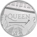 5 Pounds 2020, United Kingdom (Great Britain), Elizabeth II, Music Legends, Queen
