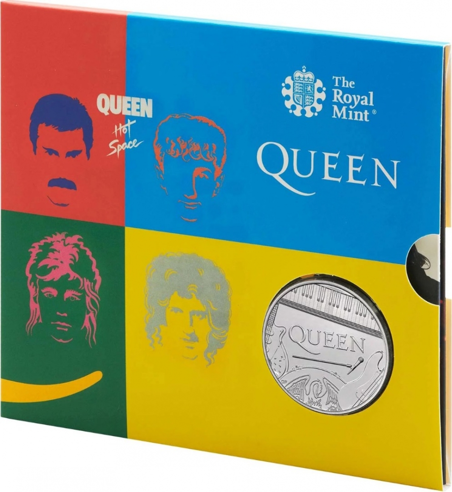 5 Pounds 2020, United Kingdom (Great Britain), Elizabeth II, Music Legends, Queen, Hot Space, Limited Edition