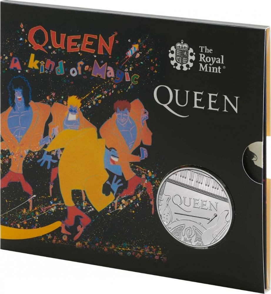 5 Pounds 2020, United Kingdom (Great Britain), Elizabeth II, Music Legends, Queen, A Kind of Magic, Limited Edition
