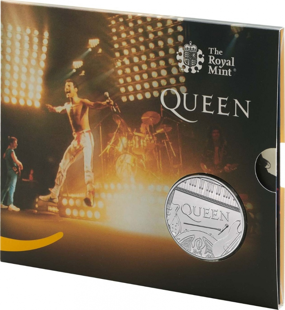 5 Pounds 2020, United Kingdom (Great Britain), Elizabeth II, Music Legends, Queen, Live, Limited Edition