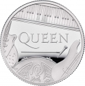1 Pound 2020, United Kingdom (Great Britain), Elizabeth II, Music Legends, Queen