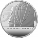 1 Pound 2020, United Kingdom (Great Britain), Elizabeth II, James Bond, Shaken, Not Stirred