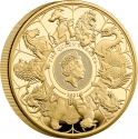 500 Pounds 2021, United Kingdom (Great Britain), Elizabeth II, Queen's Beasts, The Completer Coin