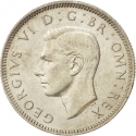 1 Shilling 1937-1946, KM# 853, United Kingdom (Great Britain), George VI