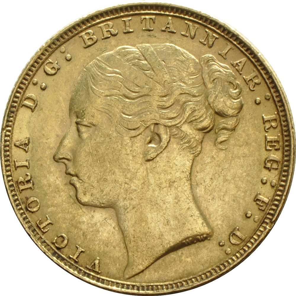 1 Sovereign 1871-1885, KM# 752, United Kingdom (Great Britain), Victoria