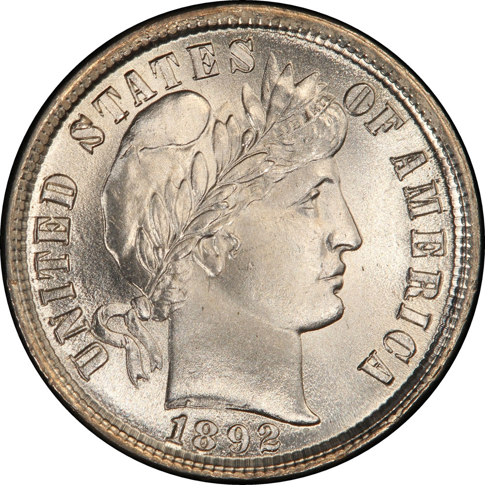 First Commemorative Mint Denver Barber Dime 1892 to 1916
