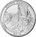 25 Cents 2010, KM# 472, United States of America (USA), America the Beautiful Quarters Program, Arizona, Grand Canyon National Park