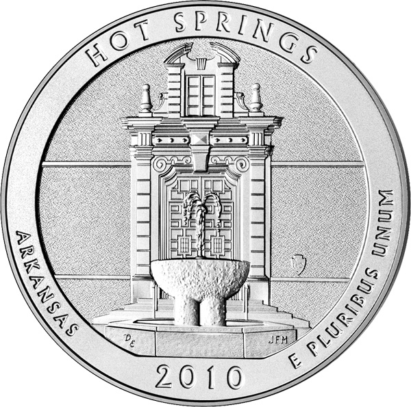 25 Cents 2010, KM# 469, United States of America (USA), America the Beautiful Quarters Program, Arkansas, Hot Springs National Park
