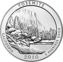 25 Cents 2010, KM# 471, United States of America (USA), America the Beautiful Quarters Program, California, Yosemite National Park