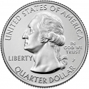 25 Cents 2020, United States of America (USA), America the Beautiful Quarters Program, Connecticut, Weir Farm National Historic Site