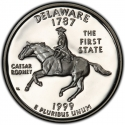 25 Cents 1999, KM# 293a, United States of America (USA), 50 State Quarters Program, Delaware