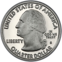 25 Cents 2009, KM# 445a, United States of America (USA), District of Columbia and US Territories Quarters Program, District of Columbia