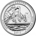 25 Cents 2011, KM# 497, United States of America (USA), America the Beautiful Quarters Program, Mississippi, Vicksburg National Military Park