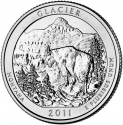 25 Cents 2011, KM# 495, United States of America (USA), America the Beautiful Quarters Program, Montana, Glacier National Park
