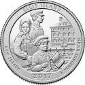 25 Cents 2017, KM# 656, United States of America (USA), America the Beautiful Quarters Program, New Jersey, Ellis Island, Statue of Liberty National Monument