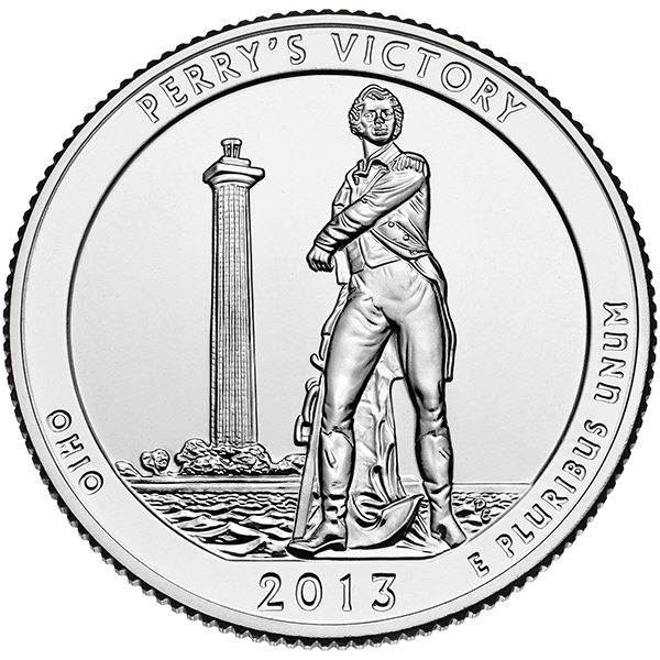 25 Cents 2013, KM# 543, United States of America (USA), America the Beautiful Quarters Program, Ohio, Perry's Victory and International Peace Memorial