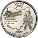 25 Cents 2002, KM# 332a, United States of America (USA), 50 State Quarters Program, Ohio