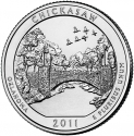 25 Cents 2011, KM# 498, United States of America (USA), America the Beautiful Quarters Program, Oklahoma, Chickasaw National Recreation Area