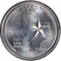 25 Cents 2004, KM# 357, United States of America (USA), 50 State Quarters Program, Texas