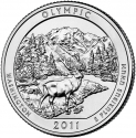 25 Cents 2011, KM# 496, United States of America (USA), America the Beautiful Quarters Program, Washington, Olympic National Park