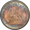 1/2 Dollar 1839-1853, KM# 68, United States of America (USA)