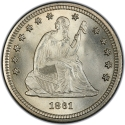 1/2 Dollar 1856-1866, KM# A68, United States of America (USA)