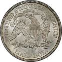 1/2 Dollar 1875-1891, KM# A99, United States of America (USA)
