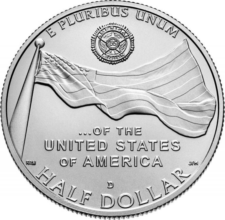 1/2 Dollar 2019, United States of America (USA), 100th Anniversary of the American Legion