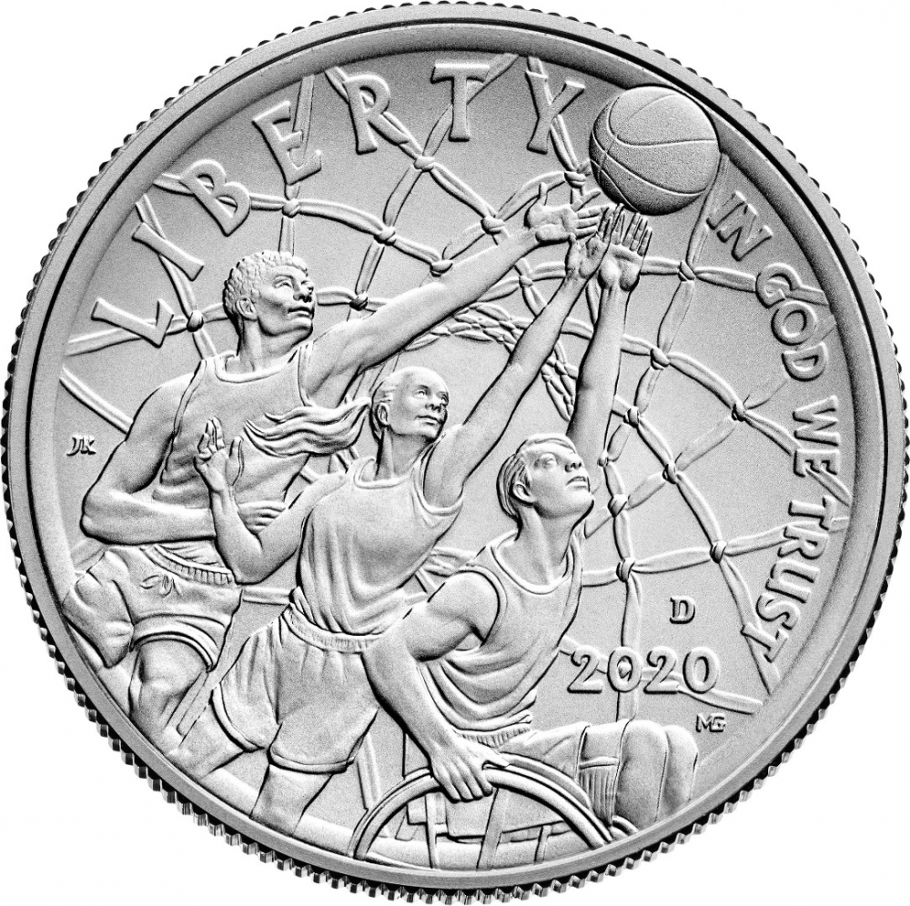 1/2 Dollar 2020, United States of America (USA), Basketball Hall of Fame