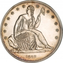 1 Dollar 1836-1839, KM# 59a, United States of America (USA)