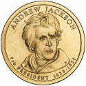 1 Dollar 2008, KM# 428, United States of America (USA), Presidential $1 Coin Program, Andrew Jackson