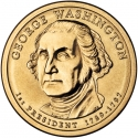 1 Dollar 2007, KM# 401, United States of America (USA), Presidential $1 Coin Program, George Washington