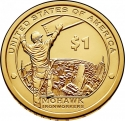 1 Dollar 2015, KM# 603, United States of America (USA), Native American $1 Coin Program, Mohawk Ironworkers