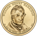 1 Dollar 2009, KM# 450, United States of America (USA), Presidential $1 Coin Program, William Henry Harrison