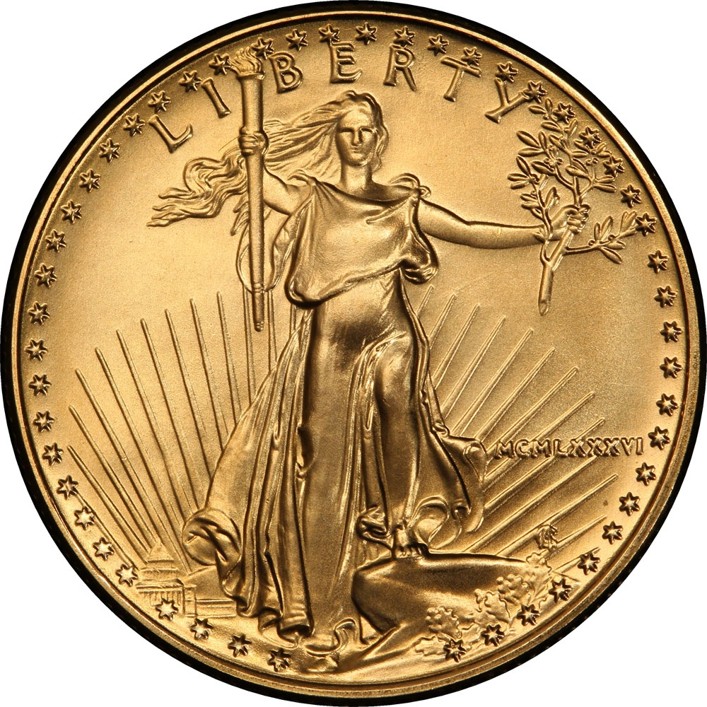 25 Dollars 1986-2018, KM# 218, United States of America (USA), American Eagles, Gold Eagles, Roman numerals