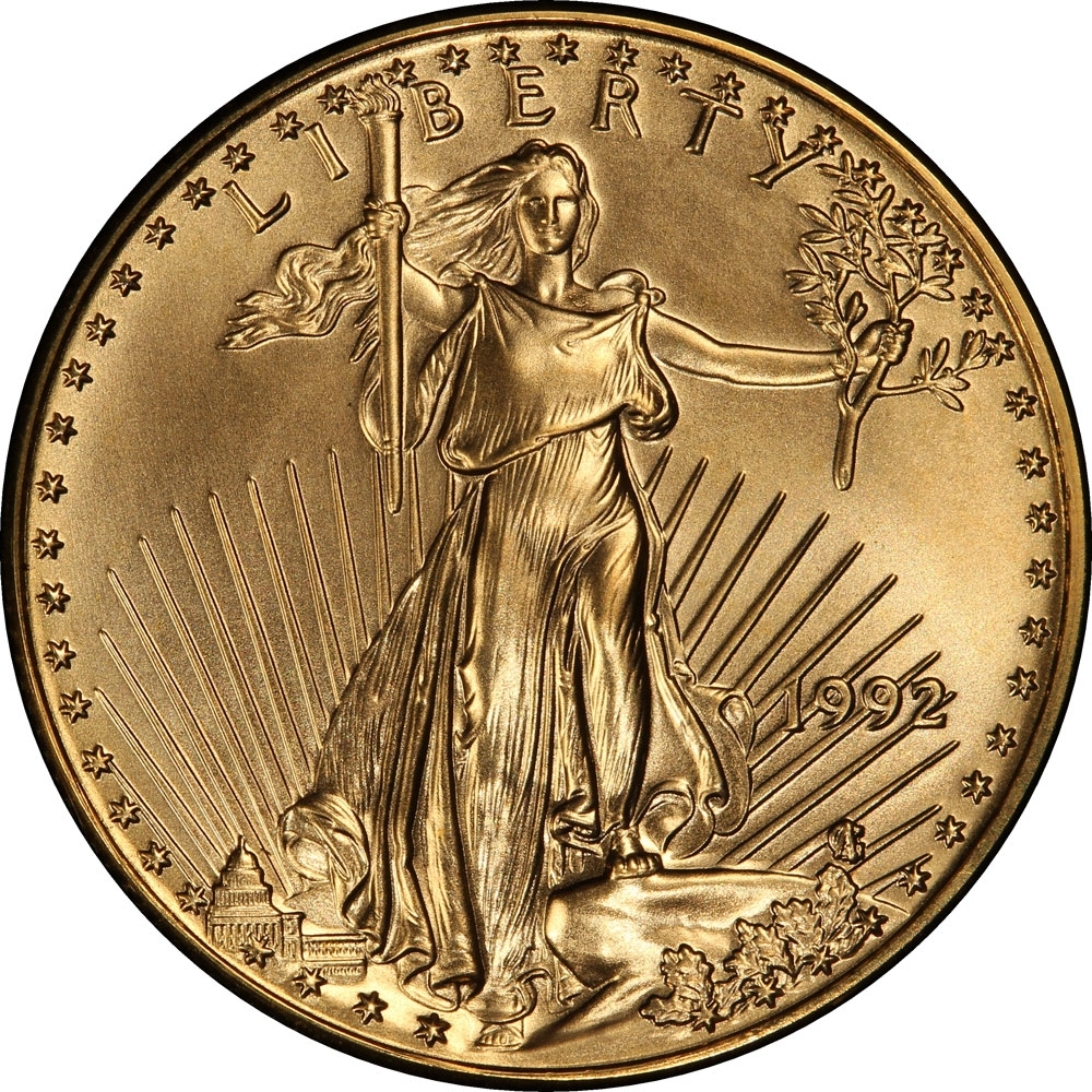 25 Dollars 1986-2018, KM# 218, United States of America (USA), American Eagles, Gold Eagles, Arabic numerals