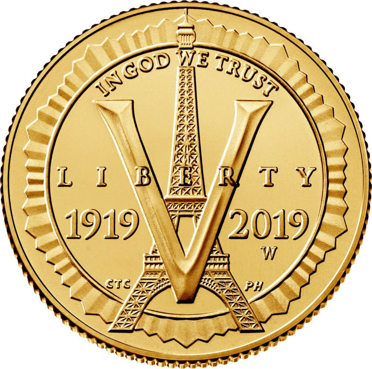 5 Dollars 2019, United States of America (USA), 100th Anniversary of the American Legion