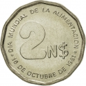 2 Nuevos Pesos 1981, KM# 77, Uruguay, Food and Agriculture Organization (FAO), World Food Day
