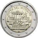 2 Euro 2014, KM# 463, Vatican City, Pope Francis, 25th Anniversary of the Fall of the Berlin Wall