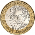 5 Euro 2020, Vatican City, Pope Francis, 250th Anniversary of Birth of Ludwig van Beethoven