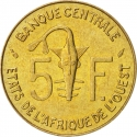 5 Francs 1965-2014, KM# 2a, West African States